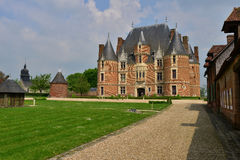 Martainville Frankrike - kan 13 2016: slott Royaltyfri Foto