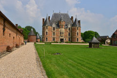 Martainville Frankrike - kan 13 2016: slott Arkivbild