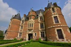 Martainville Frankrike - kan 13 2016: slott Arkivfoto