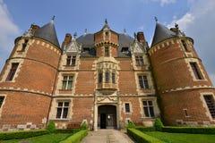 Martainville Frankrike - kan 13 2016: slott Arkivfoton