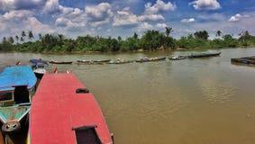 Martapura的河 库存图片