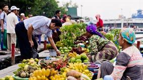 Martapura som svävar marknaden Fotografering för Bildbyråer