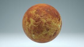Marte che gira 4K isolato di ciclaggio senza cuciture con la metallina di Luma illustrazione vettoriale