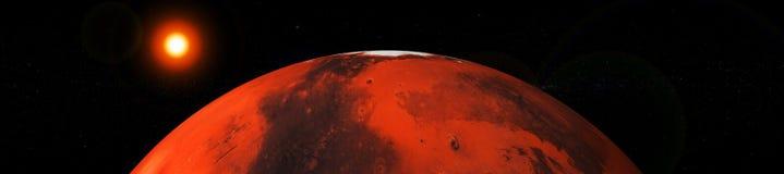 Marte e terra, pianeti del sistema solare illustrazione vettoriale