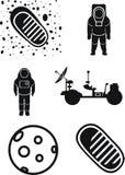 Marte, estraga o vagabundo, cosmonauta, primeira etapa na lua Fotografia de Stock