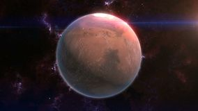 Marte rivela nello spazio illustrazione vettoriale