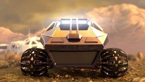 Marte Rover Space Travel Front View rappresentazione 3d Fotografie Stock Libere da Diritti