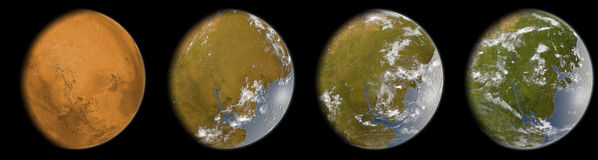 Marte terraforming foto de archivo