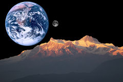 Marte, tierra y luna Fotos de archivo
