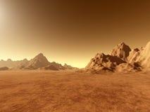 Marte - vicino a terra illustrazione vettoriale