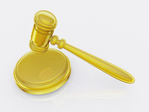 Marteau d'or Photo libre de droits