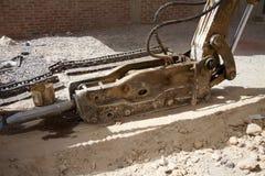 Marteau de coup pour l'excavatrice de pelle image stock