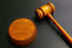 Marteau de divorce Photos libres de droits