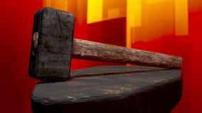 Marteau de forge Photo libre de droits