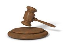 MARTEAU DE JUSTICE Image stock