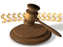Marteau de justice Photo libre de droits