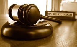 Marteau de tribunal des faillites image stock