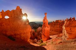Marteau du ` s de Thor en Bryce Canyon National Park en Utah, Etats-Unis photos libres de droits