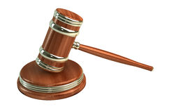 Marteau en bois de juges Images stock