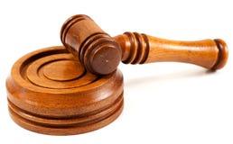 Marteau en bois et Gavel Image libre de droits