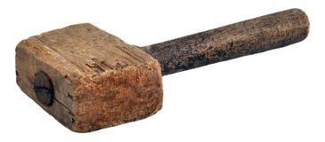 Marteau en bois (maillet) Photographie stock libre de droits