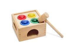 Marteau et jouet de billes image libre de droits
