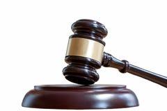Marteau juridique avec un appui image stock