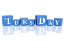 Martedì in cubi 3d Immagine Stock