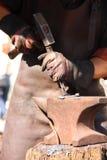 Martelamento do ferreiro Imagem de Stock Royalty Free
