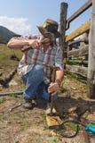 Martelamento na exploração agrícola Foto de Stock Royalty Free