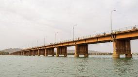 Martelarenbrug (de martelaren van Pont des) in Bamako stock fotografie