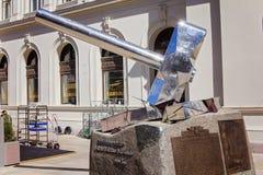Martele a estátua em Oslo, Noruega, grupo de Osvald Fotografia de Stock Royalty Free
