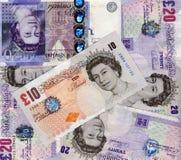 Martella le banconote fotografia stock