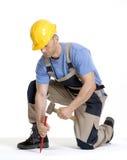 Martellamento dell'operaio. fotografia stock libera da diritti