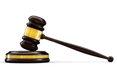 Martelletto del giudice Immagini Stock