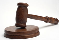 Martelletto del giudice Fotografie Stock Libere da Diritti