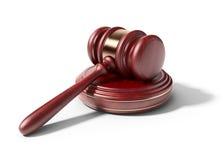 Martelletto di legno. Concetto di LEGGE. icona 3D   Fotografia Stock Libera da Diritti