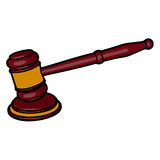 Martelletto di legno del giudice Immagini Stock Libere da Diritti