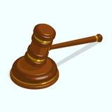 Martelletto lucido di legno del giudice Fotografie Stock