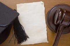 Martello di legno dell'arbitro Fotografia Stock Libera da Diritti