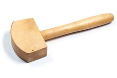 Martello di legno Isolato Fotografia Stock