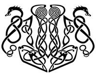 Martello di Thore e dell'illustrazione di vettore dei draghi immagini stock libere da diritti