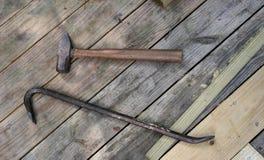 Martello e bastone a leva Fotografia Stock Libera da Diritti