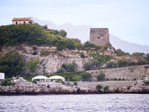 Martello Tower at the Baths of Queen Giovanna Stock Photography