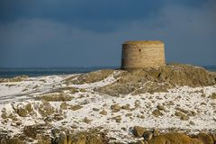 Martello tower. Dalkey island. Dublin. Ireland. Offshore island with the ruins of an old church and a martello tower. county Dublin. Ireland Stock Images