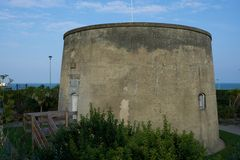 Martello tower on Eastbourne seafront. England Stock Images