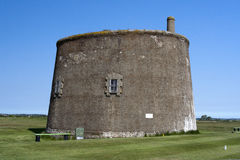 Martello Tower at Felixstowe, Suffolk, England Royalty Free Stock Images