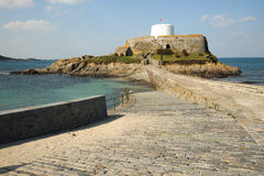Fort Grey causeway Guernsey Stock Image
