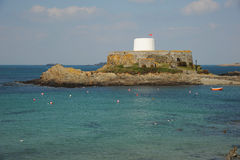 Fort in the bay. Guernsey Royalty Free Stock Image