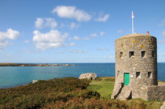 Martello Tower, L�Ancresse Bay, Royalty Free Stock Photos
